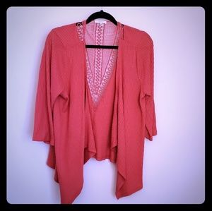 Orange cardigan from Maurices